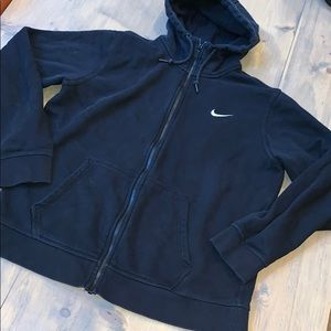 Nike zip up hooded sweatshirt size L